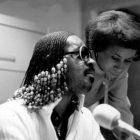 Jacquie Gales Webb and Stevie Wonder